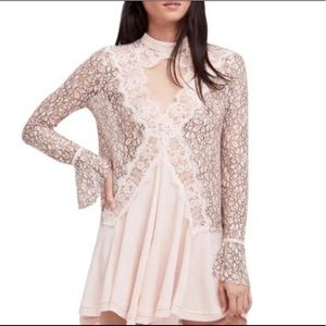 Free people tell tale lace tunic in pearl